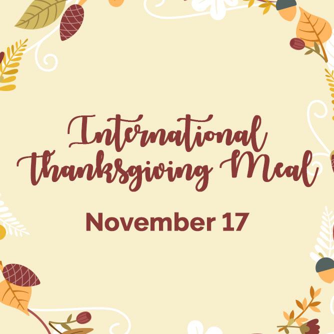 International Thanksgiving Meal image